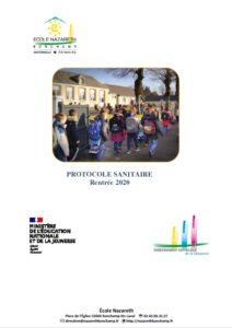 Read more about the article Protocole Sanitaire de rentrée